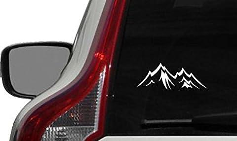 Mountain Shape Version 2 Car Vinyl Sticker Decal Bumper Sticker for Auto Cars Trucks Windshield Custom Walls Windows Ipad Macbook Laptop and More - 2 Decal Bumper Sticker