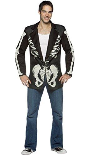 [Adult Blazer Bones Skeleton Costume Accessory Jacket - One size fits most] (Blazer Bones Adult Costumes)