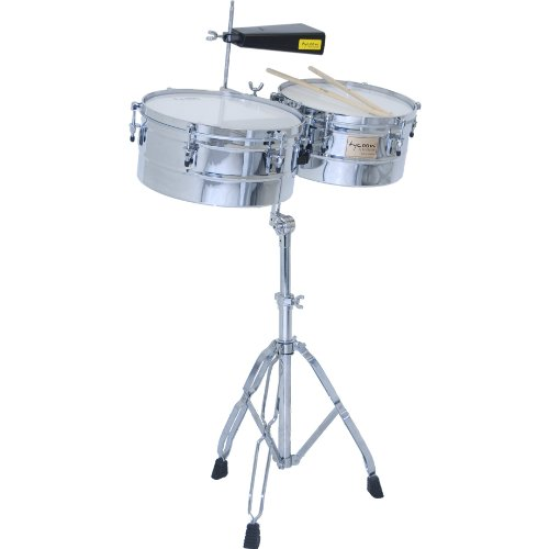 Tycoon Percussion 13 Inch & 14 Inch Chrome Shell Timbales by Tycoon Percussion
