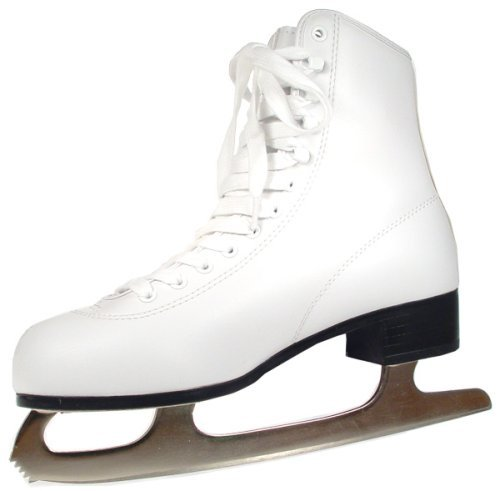 Leather Lined Girls Figure Skates - American Athletic Shoe 52208 Women's Tricot Lined Ice Skates, White, 8