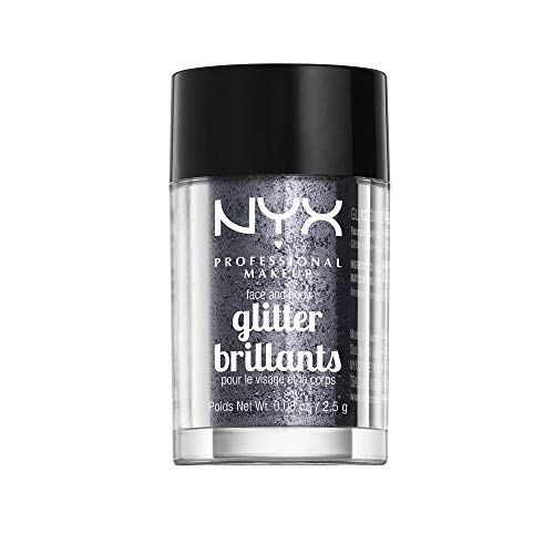 NYX PROFESSIONAL MAKEUP Face & Body Glitter, Gunmetal