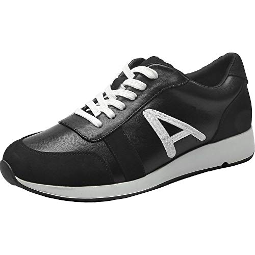 Aukusor Women's Wide Width Athletic Sneakers - Non-Slip Outdoor Platform Casual Lace up Running Walking Shoes Sneakers. ... (180501,Black,Size9.5) (Best Running Shoes For Obese)