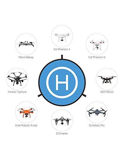 Vapiyo Drone Landing Pad Portable Fast-Fold Outdoor Landing Pad For RC Drones Helicopter DJI Mavic Pro Waterproof (75cm)