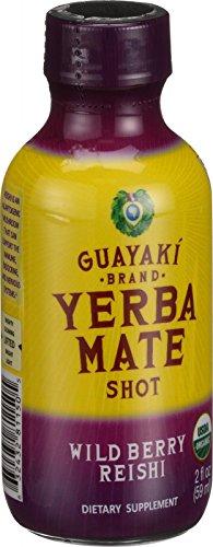 Guayaki Organic Yerba Mate Energy Shot - Wild Berry Reishi - 2 oz - Case of 12 - 95%+ Organic - Gluten Free - Dairy Free - Vegan by Guayakí Yerba Mate