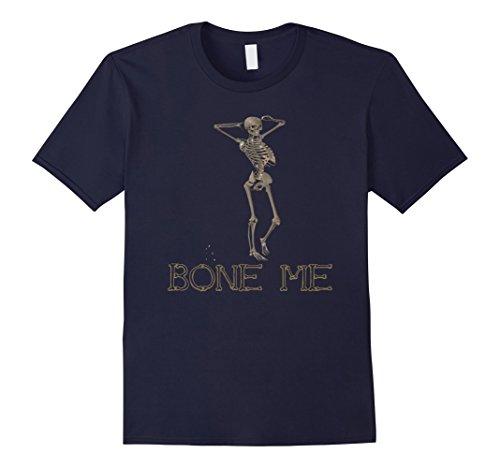 Mens Bones Halloween Costume idea funny, Party t-shirt. XL Navy