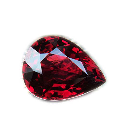 7.14ct Natural Pear Unheated Reddish-Pink Rhodolite Garnet Tanzania #B by Lovemom