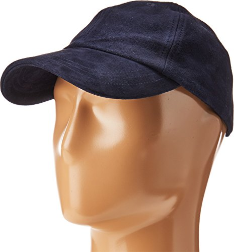 Hat Attack Cotton Hat (Hat Attack Women's Leather Baseball Cap Navy Suede)