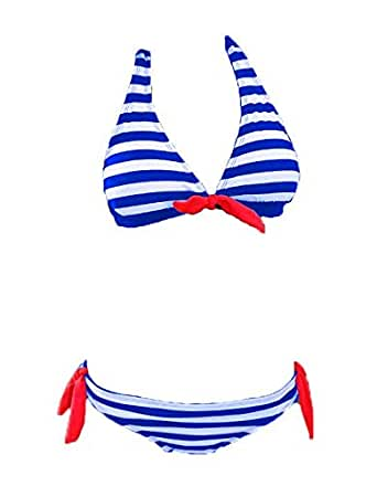 Togz blue and white bikini set for women