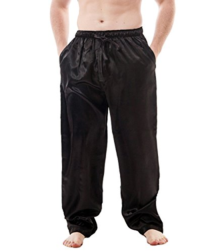 Up2date Fashion Men's Satin Lounge Pants (Large, ()