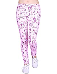 Girl's Ultra Soft Leggings with Print Designs Full Ankle Length Comfy Pants