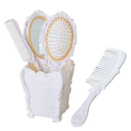 Hair Brushes Comb Holder Set 4 Pcs Vintage European Style Salon