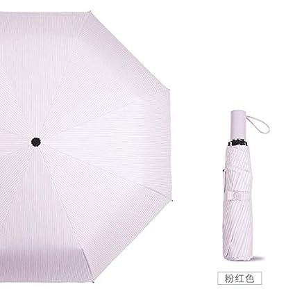 ZZSIccc - Paraguas plegable para niña con dos paraguas resistentes a los rayos UV, goma