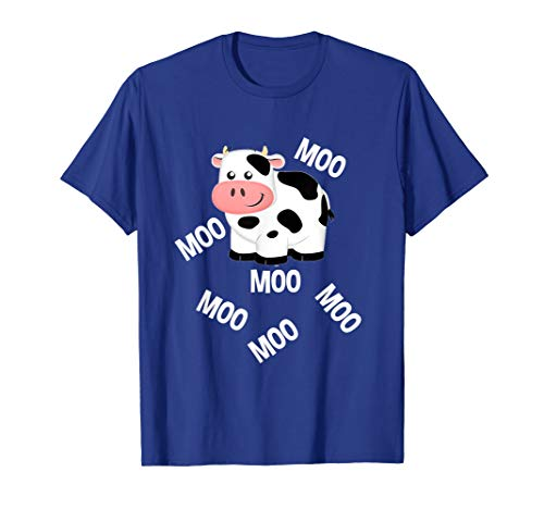 Little Moo Cow (Farm Animals Cow Goes Moo T-Shirt Toddlers Little Boy & Girl)