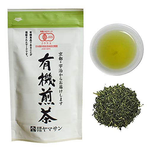 CHAGANJU- Japanese Sencha Green Tea leaves, JAS Certified Organic, Uji-Kyoto, 80g Bag