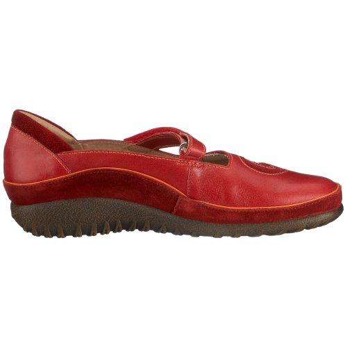Naot - Zapatillas de deporte de cuero para mujer Rojo