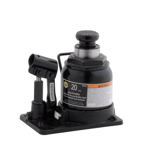 Omega 10208 Black Shorty Hydraulic in-Line Bottle Jack - 20 Ton ()