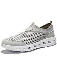 Men's Water Shoes Beach Walking Barefoot Lightweight Breathable Mesh Wetsuits Slip On Outdoor Sneakers