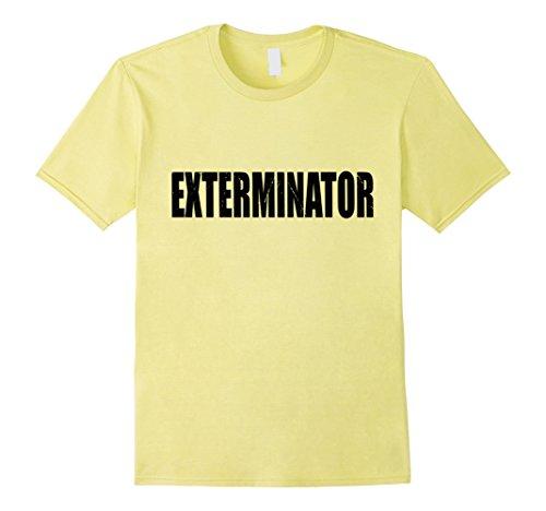 Exterminator Costumes - Mens Exterminator Shirt Halloween Costume Funny Retro Distressed Large Lemon