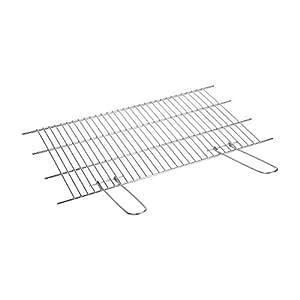 Sauvic 02745 - Parrilla barbacoa inoxidable recortable, 18/8, 60 x 40 cm