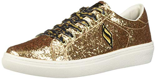 - Skechers Women's Goldie-Smooth Crush. Coated Glitter Leopard lace Fashion Sneaker, Gold, 8.5 M US