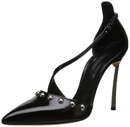Casadei Womens Milano Blade Van Argento Dress Pump Nero 38.5 EU8.5 M US