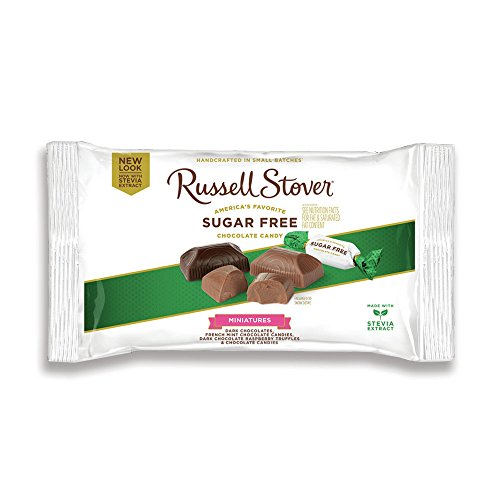 Russell Stover Sugar Free Asstorted Chocolate Candy Miniatures Laydown Bag, 9 Ounce