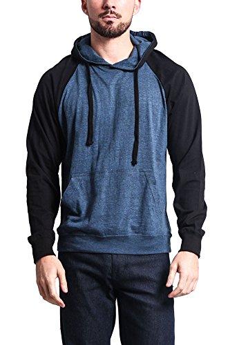 G-Style USA Lightweight Contrast Raglan Sleeve Pullover Hood