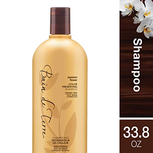 Bain de Terre Passion Flower Color Preserving Shampoo, with Argan and Monoi Oil, Paraben-Free, 33.8-Ounce