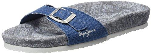 Pepe Jeans London Oban Betty, Sandalias Para Mujer Azul (AZZURRO)