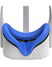 AMVR VR Siliconen Gezichtsbescherming voor Oculus Quest 2 Headset, zweetbestendige waterdichte anti-Vuile Vervanging Gezichtskussen Oculus Pads Accessoires (blauw)