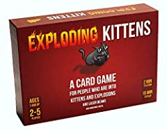 Exploding kittens is a card game for people who are into kittens and explosions and laser beams and sometimes goats. In this highly-strategic, kitty-powered version of Russian roulette, players draw cards until someone draws an exploding kitt...