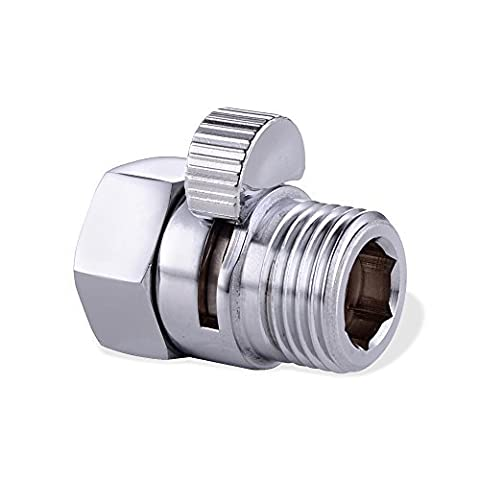 Aprince Solid Brass Shut Off /Bidet Control Valve with Short Switch for Shower Head / Handheld Shower / Garden Hose Adjustable (Control Valve - Ips Hose