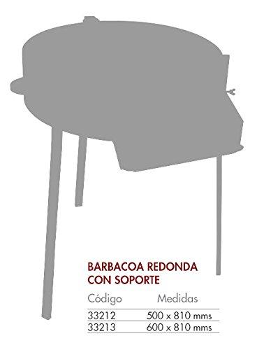 Flores Cortés 33213 - Barbacoa con soportes, color negro, 50 x 81 x 85 cm: Amazon.es: Jardín