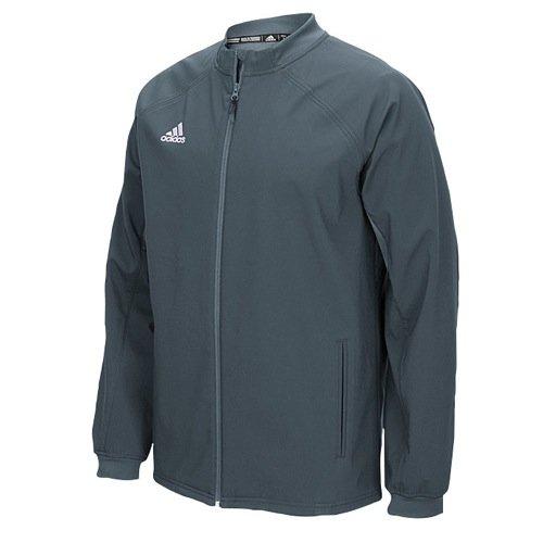 adidas Mens Climawarm Fielders Choice Full-Zip Warm Jacket Grey/Grey Xs