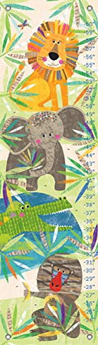 Oopsy Daisy Baby Growth Charts - Oopsy Daisy Growth Chart, Peeking Jungle Buddies, 12