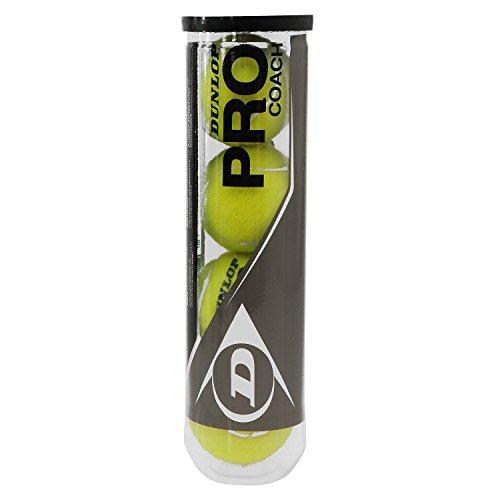 Dunlop Tennisbälle Pro Coach 4er, Gelb, One Size, 602231