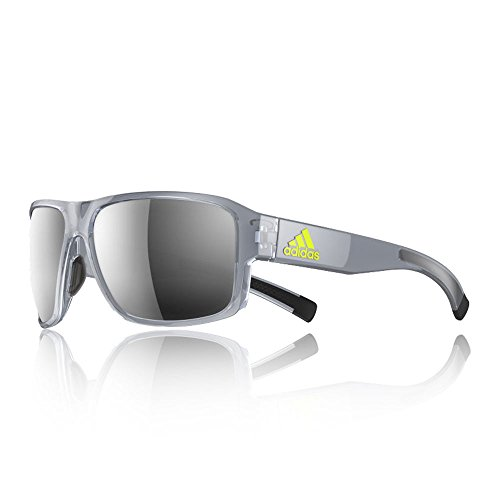 adidas Jaysor Rectangular Sunglasses, Grey Transparent Shiny, 60 - Sunglass Adidas