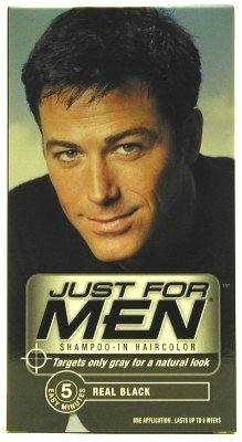 Just For Men Shampoo Real Natural Black Couleur (Case of 6)