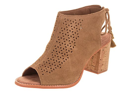 - TOMS Women's Elba Suede Bootie, Size: 5.5 B(M) US, Color: Toffee Suede/Mosc Tile