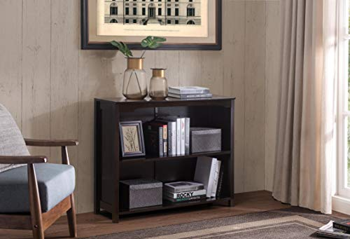 (2L Lifestyle Brenton Console Table 3-Tier Storage Shelf, Small, Espresso)