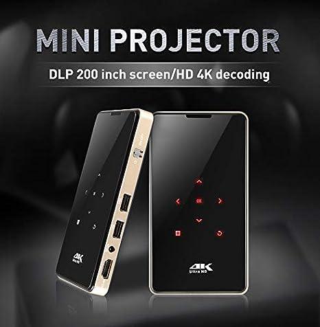 ZZKK Nuevo 0.3inch DLP 200 Mini proyector de teléfono móvil 4K HD ...