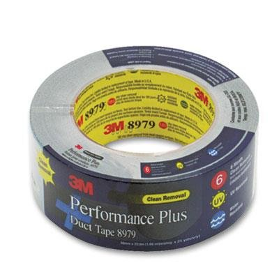 3M 8979 Polyethylene High Performance Duct Tape, 200 Degree F Performance Temperature, 36 lbs/in Tensile Strength, 25 yds Length x 2