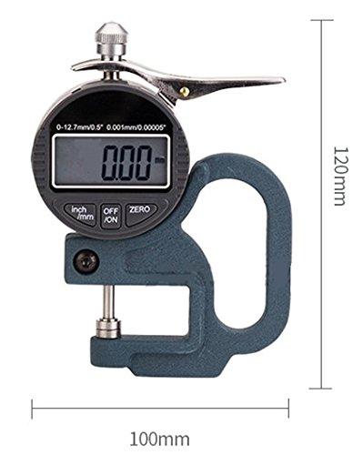 BAOSHISHAN 0.01/0.001mm Aluminum Thickness Tester Gauge Digital Micrometer Thickness Meter for Paper, Film, Cloth, Tape (0.01mm)