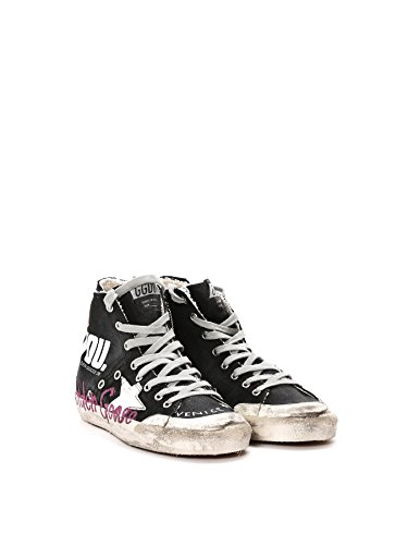 Golden Goose Hi Top Sneakers Donna G30WS591A71 Cotone Nero
