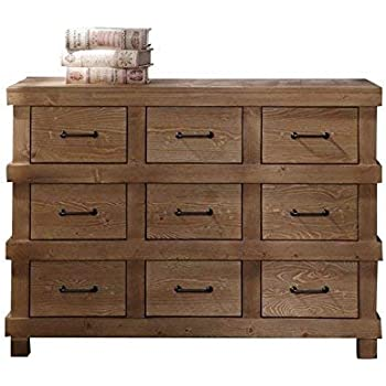 Amazon Com Acme Adams Antique Oak Dresser Kitchen Amp Dining