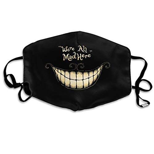 Funny Cheshire Cat Face C_over Reusable Washable Face Madk Skull Holiday Mouth Protection for Women Man Kids Decor