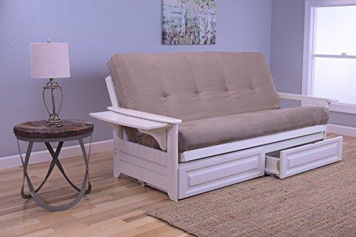 Kodiak Furniture KFPHDAWSPEATLF5MD4 Futon Set, Full, White