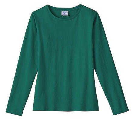 White Swan Fundamentals Uniforms Long Sleeve Round Neck Layering Tee (Hunter Green, X-Large) (Pro Tee Layering)