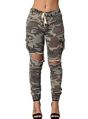 Haute Battercake Loisirs Élastique Taille De Trous Longues Casual Eté Pantalon Ceinture Mehrfarbig Outdoor Sport Militaire Elégante Dame Femme Pantalons Yq8rYF