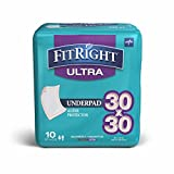 Product review for FitRight Premium Heavy Absorbency Disposable Underpads, Peach, 30x30, Pack of 10